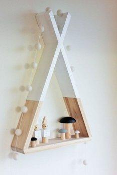 Katre Dizayn Doğal Ahşap Dekoratif Çocuk Odası Rafı tanie i dobre opinie Katre Design Do Montażu Na Ścianie Drewna