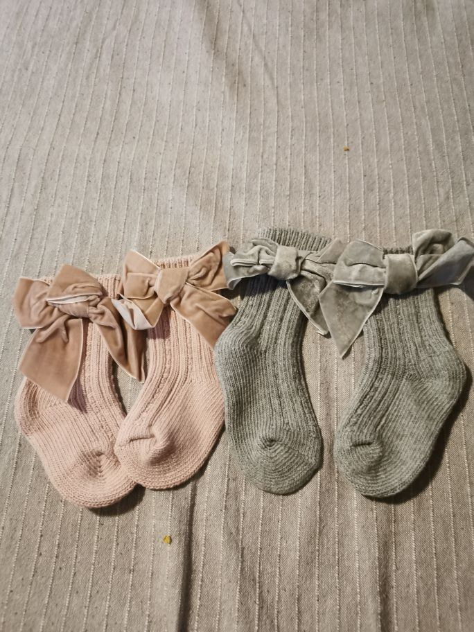 New Winter Children Socks Thick Knitted Girls Ankle Socks Big Bows Warm Cotton Socks Toddlers Infants Boot Socks 0-5Years photo review