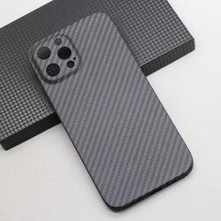 Amstar 순수 탄소 섬유 렌즈 보호 전화 케이스 아이폰 12 11 프로 최대 12 미니 울트라 얇은 탄소 섬유 하드 커버 케이스
