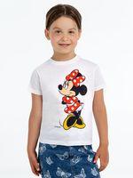T shirt children's Minnie Mouse. Jolly girl's white Disney Cotton