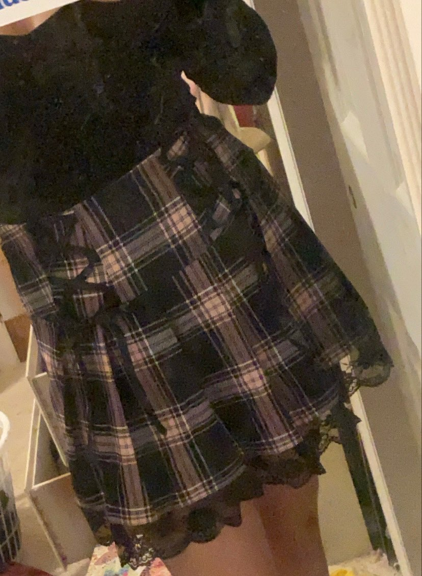 Pleated Skirts with lace E-girl photo review