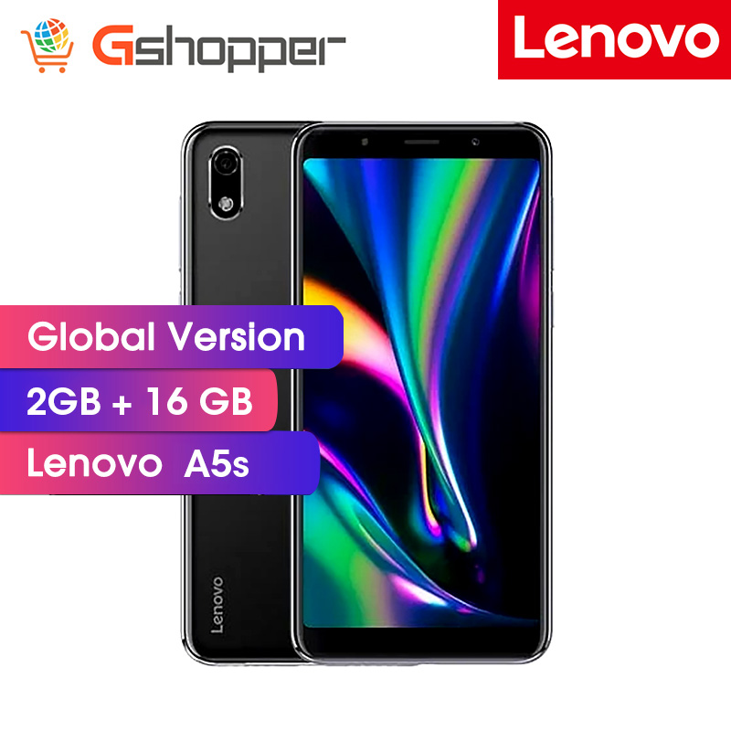 Global Firmware Lenovo A5 S A5s 5.45 Inch HD 18:9 Screen 2GB 16GB MT6761 13MP Camera Smartphone 3000mAh Face Unlock Phone