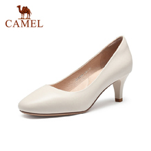 CAMEL 2021 Spring Summer New Genuine Leather Pumps High Heels Women Shoes Fashion Stiletto 6cm Comfortable Ladies Shoes
