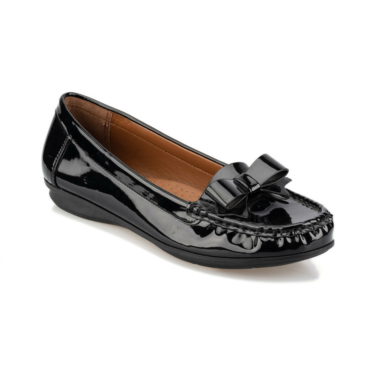 FLO 92.156009.Z Black Women Loafer Shoes Polaris