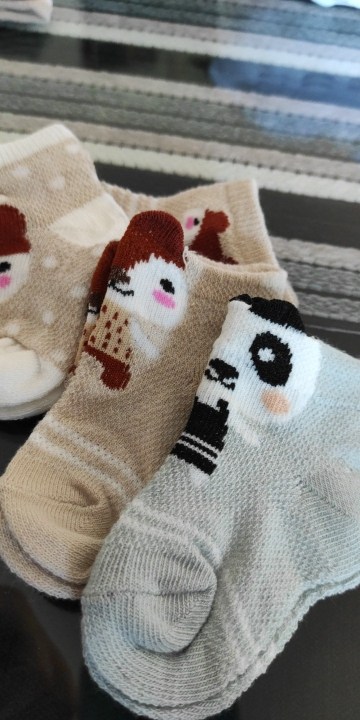 Kid's Cotton Socks with Cartoon Animal Pattern photo review