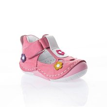 MyWondry Genuine Leather Summer Flowers Pink Girl Baby  Anatomical First Step Shoes