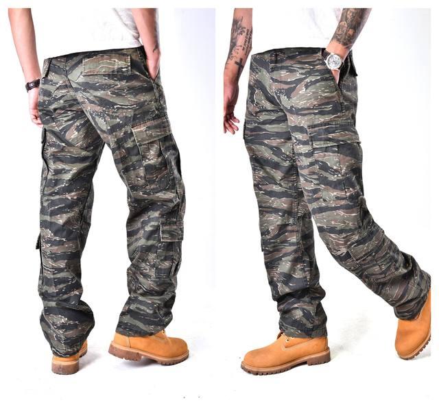 メンズ戦闘軍事戦術的なズボンマルチポケットカジュアル作業耐久性のある貨物パンツ