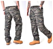 Mens Combat צבאי טקטי מכנסיים כיסים רב מזדמן עבודה עמיד מטען מכנסיים