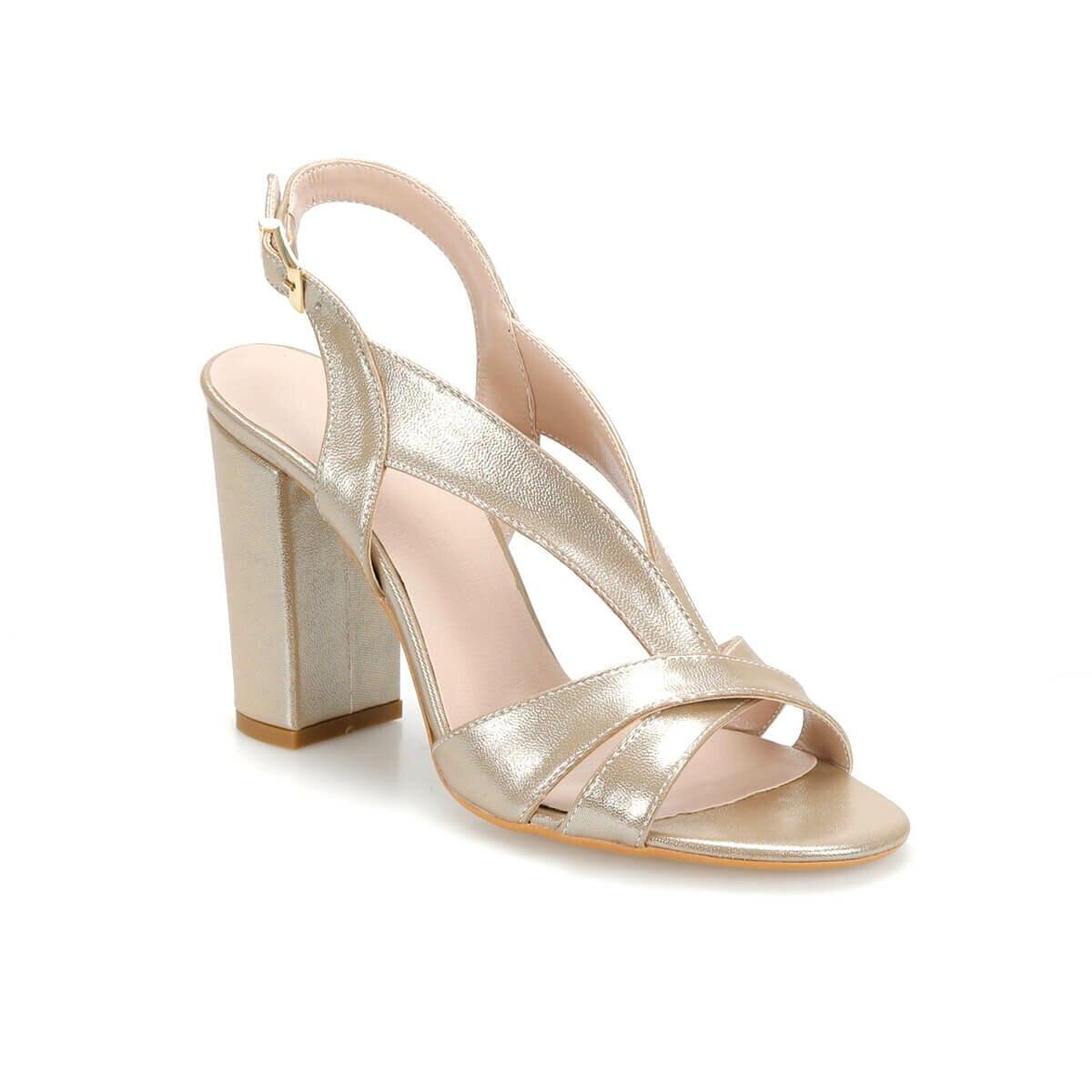 FLO DS19065 Gold Women 'S High-Heeled Sandals Miss F