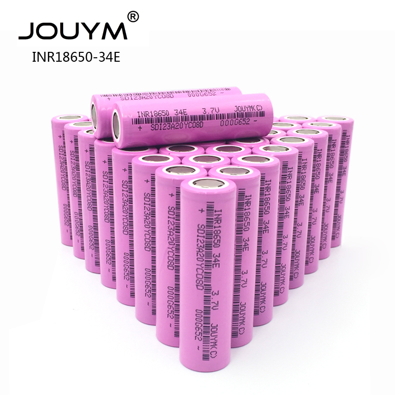 JOUYM NEW 3.7V <font><b>18650</b></font> Battery 3400mAh INR18650 30A Discharge Li-ion Rechargeable Battery For Flashlight Tools and Toys(10-<font><b>40PCS</b></font>) image
