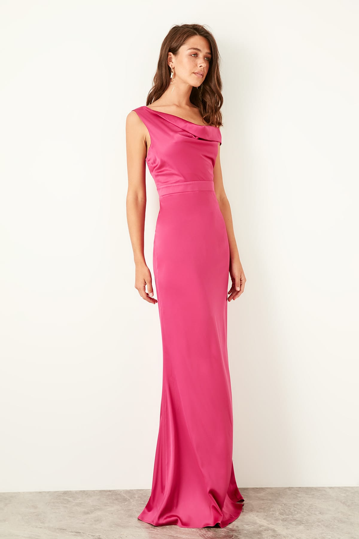 Trendyol Satin Evening Dress TPRSS19UZ0045