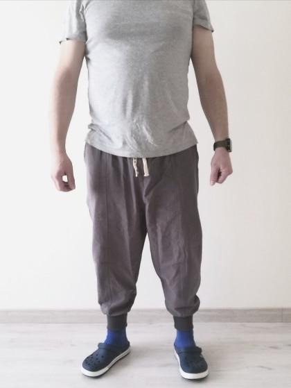 MrGB 2021 Cotton Linen Jogger Pants Men Streetwear Casual Harem Pants Men Trouser Summer Cool Pants Oversized Men's Clothing photo review