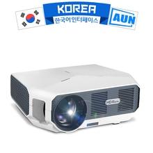 3D 비디오 비머 용 AUN ET10 시리즈 미니 LED 프로젝터. 1280x720P, 3800 루멘, 지원 1080P, HD IN (옵션 안드로이드 6.0)