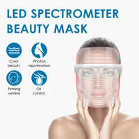 LED Light Therapy Face Mask Rejuvenation Wrinkle Acne Removal Facial Mask Electric SPA Beauty Instrument Care Tools 3 Colors
