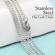 50 pcs - Stainless Steel Necklace, Flat Curb Chain, Stainless Steel Curb Chain Necklace, Stainless Steel Chain Bulk Wholesale цена 2017