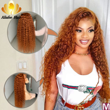 Aliafee Color Orange Deep Wave Wig Malaysia Remy Hair 13 #215 6 Lace Front Human Hair Wigs 150 Pre Plucked With Baby Hair For Women cheap Long Lace Front wigs Hand Tied Swiss Lace 1 Piece Only Light Brown Malaysia Hair Average Size 13x4 and 13x6 150 and 180 density