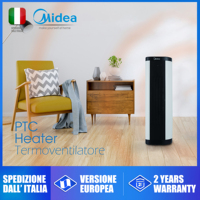 Midea electric home tower heater heating tower shaking its head against overheating security scaldabagno elettrico istantaneo