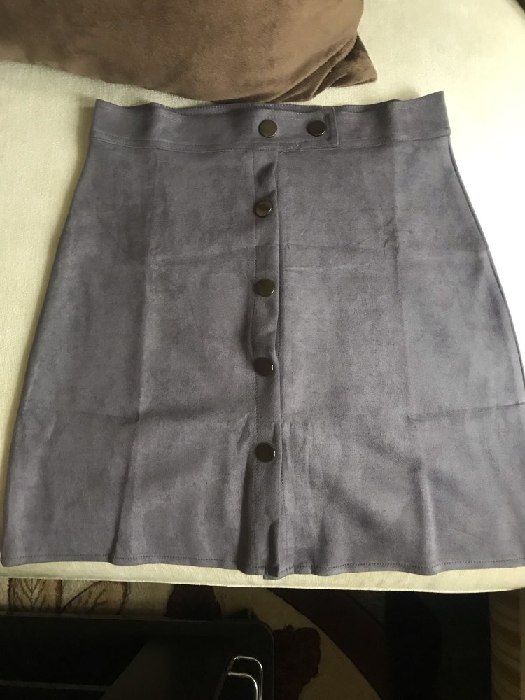 Winter Women Suede Button Mini Vintage Style A Line Skirts High Waist Black Wrap Ladies Short Skirt Tutu Saia photo review