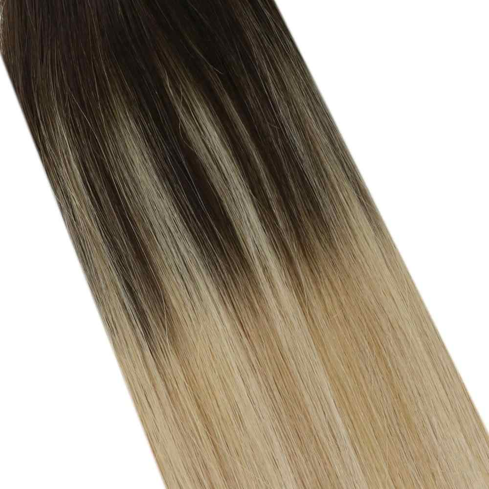 Ugeat 12-24'' Tape in Hair Extensions Real Hair 100% Human Hair 10pcs/20pcs/40pcs Machine Remy Seamless Invisible Skin Weft