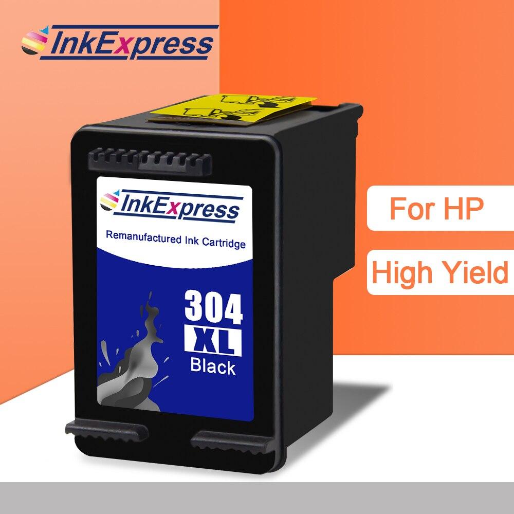 InkExpress 304XL Ink Cartridge Black Color Compatible For HP 304 Ink Cartridge DeskJet 2620 2630 2632 2633 2634 Envy 5020 5030