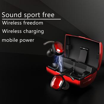 V16 TWS 30pcs wireless bluetooth earphone 5.0 touch control waterproof sports belt charging box headphone 3D stereo sound