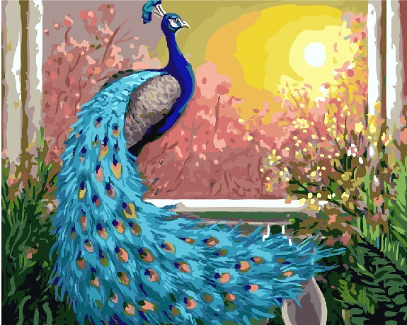 Painting By Numbers GX 26454 Peacock 40*50