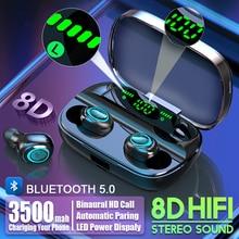 S11 TWS 3500mAh Power Bank Headphone LED Bluetooth 5.0 Earphone Headphones Wireless HIFI Stereo