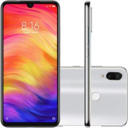 "Xiaomi Redmi Note 7, White Color, Global Version, 64 GB of Internal Memory 4 GB RAM, Dual SIM, 6,3 ""Screen, C"