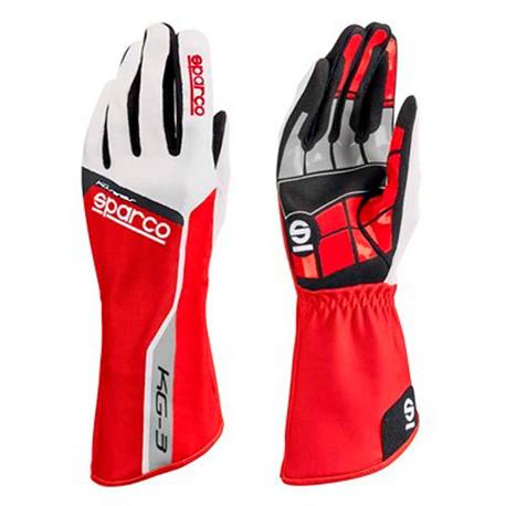 Sparco guanti Pista Kg-3 Tg. 12 rosso