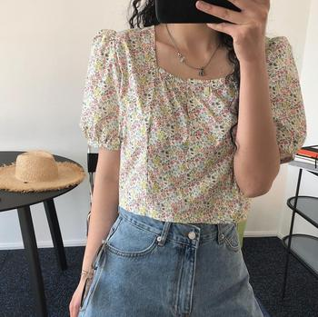 woman cotton red and white cute shirt 1