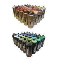 Montana Graffiti Pack 30 black+ 30 Gold premium Spray de pintura latas