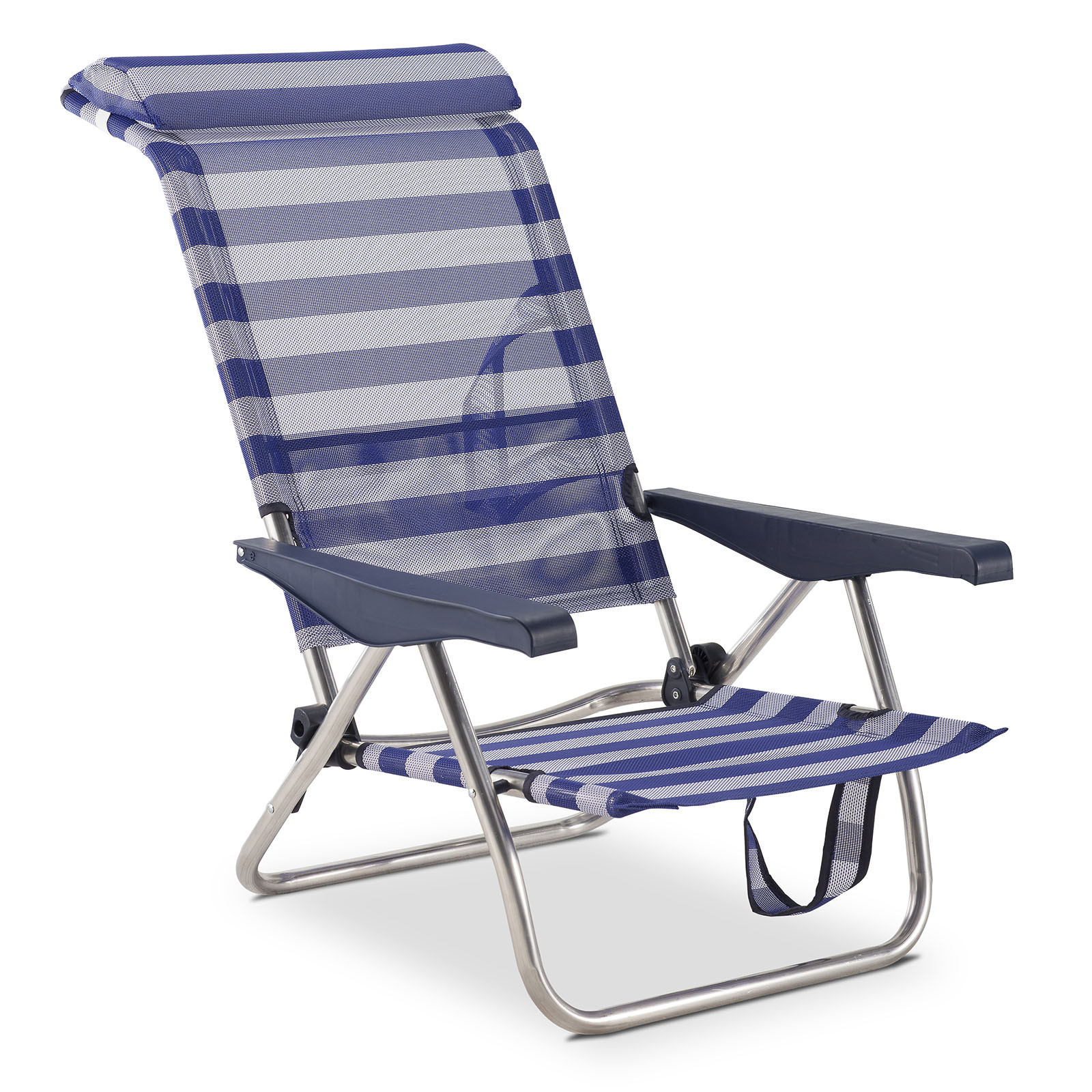 Solenny Beach Chair Bed 4 Position With Back Pocket With Handles AND With Printhead Height Adjustable