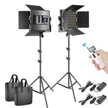 Светодиодный светильник neewer 2 шт для фотосъемки двухцветная