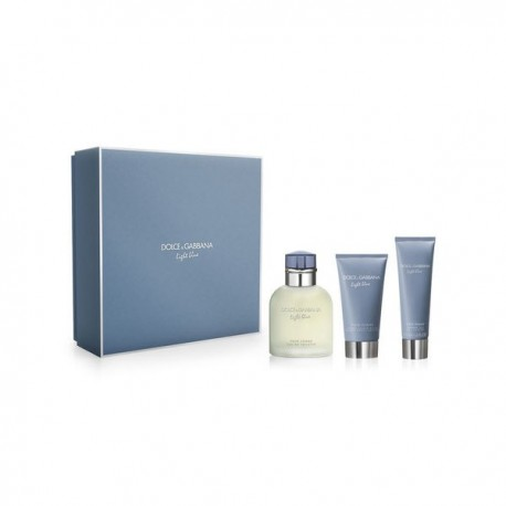 DG LIGHT BLUE POUR HOMME EDT SPRAY 125ML + AFTER SHAVE BALM 75ML + SHOWER GEL 50ML