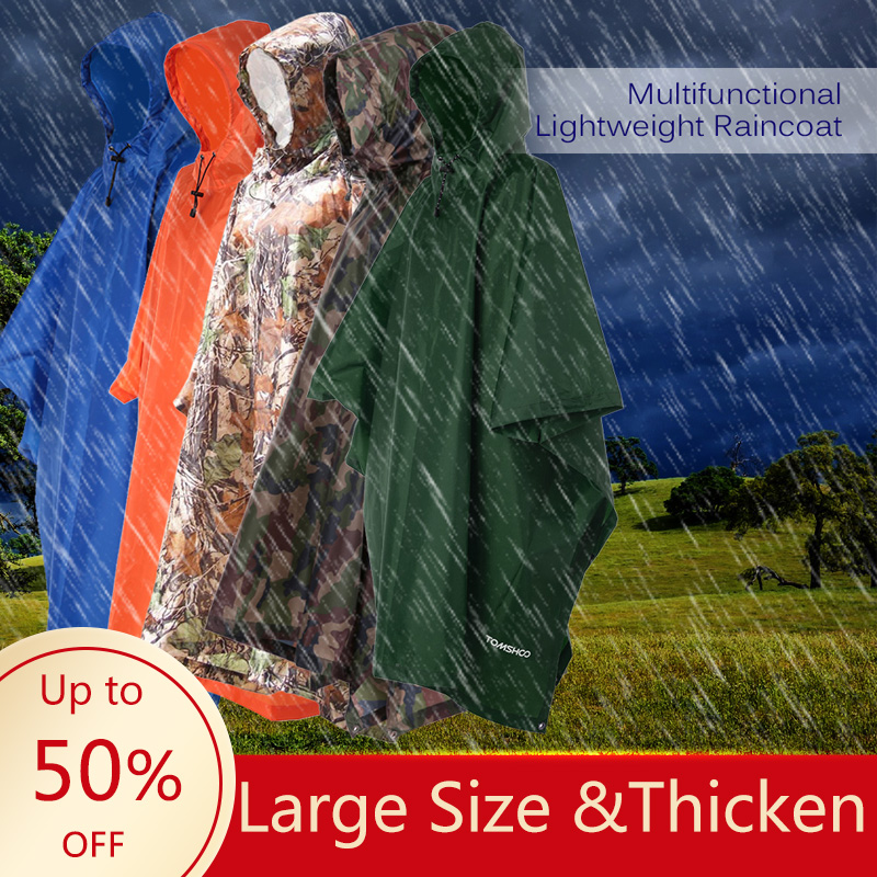 3 In 1 Raincoat Backpack Rain Cover Rain Coat Hood Hiking Cycling Rain Cover Poncho Waterproof Tent Outdoor Camping Tent Mat
