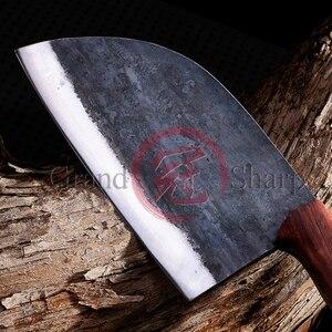 Image 3 - Couteau de Chef chinois fait main en acier au manganèse tranchage cuisine écologique outils pour la maison, Gadgets BBQ manche en bois