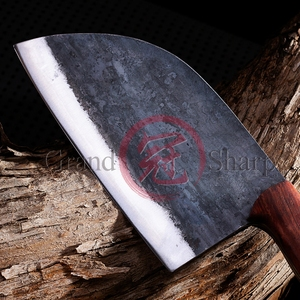 Image 3 - Handmade Chinese Cleaver Chef Knife Manganese Steel ECO Friendly Kitchen Slicing Chop Cooking Home Tools BBQ Gadgets Wood Handle