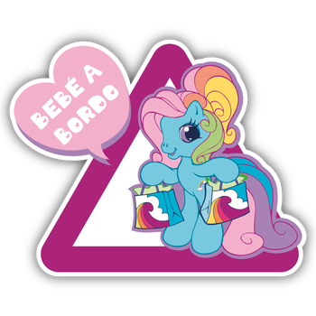 BABY ON BOARD LITTLE PONY VINYL BUMPER DECAL STICKER AUFKLEBER CAR