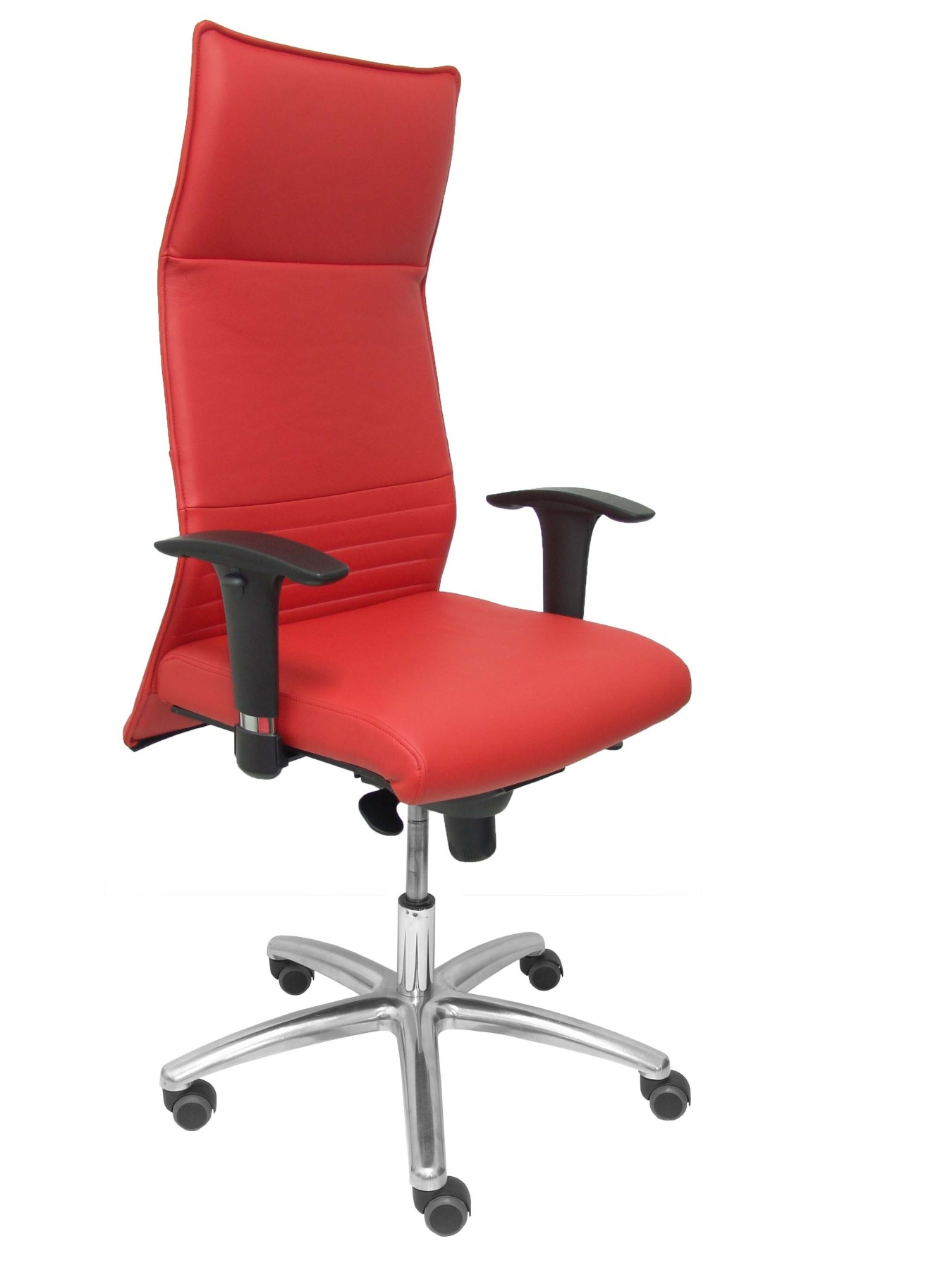 Chair Address Ergonomic With Mechanism Synchro And Adjustable Height-Seat And Backrest Cushion Leather Colo