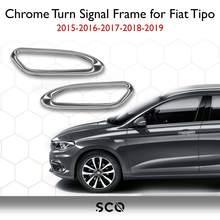 Cadre de clignotant en acier inoxydable chromé, 2 pièces, taille spéciale, accessoires de voiture pour Fiat Tipo 2015 – 2019