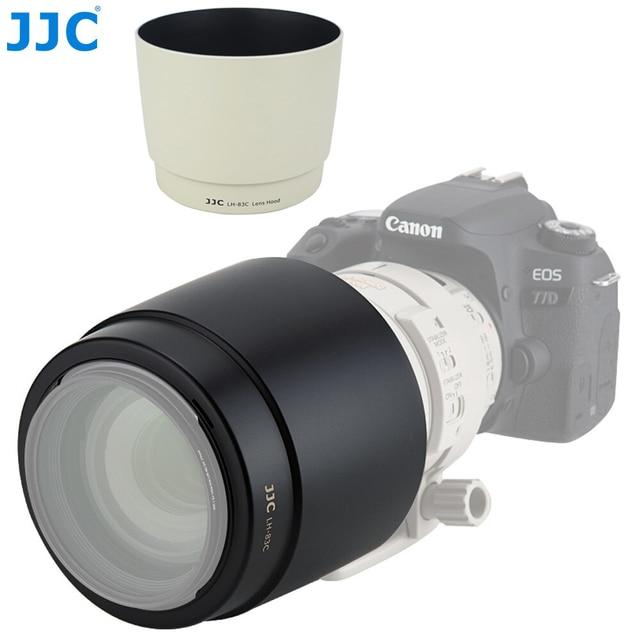 JJC DSLR 카메라 렌즈 후드 그늘 보호대 캐논 EF 100 400mm f/4.5 5.6L IS USM 렌즈 교체 캐논 ET 83C