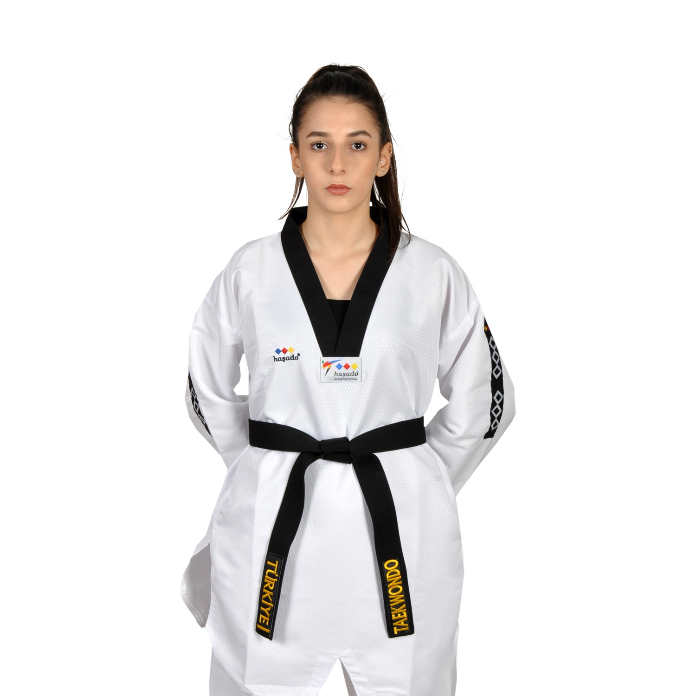 Vêtements de Taekwondo de tissu de Feihter de col noir professionnel de HAŞADO | AliExpress
