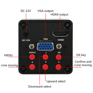Image 3 - 7X 45X سيمول البؤري ثلاثي العينيات ستيريو مجهر تكبير 1080P 720P HDMI VGA كاميرا رقمية إلكترونية 56 مصباح ليد بساط عازل