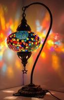 Turkish Mosaic Lamp Swan Neck Moroccan Marrakech Lamp Glass Turkish Lights Tiffany Bedside Table Turkish Lamp MADE IN TURKEY