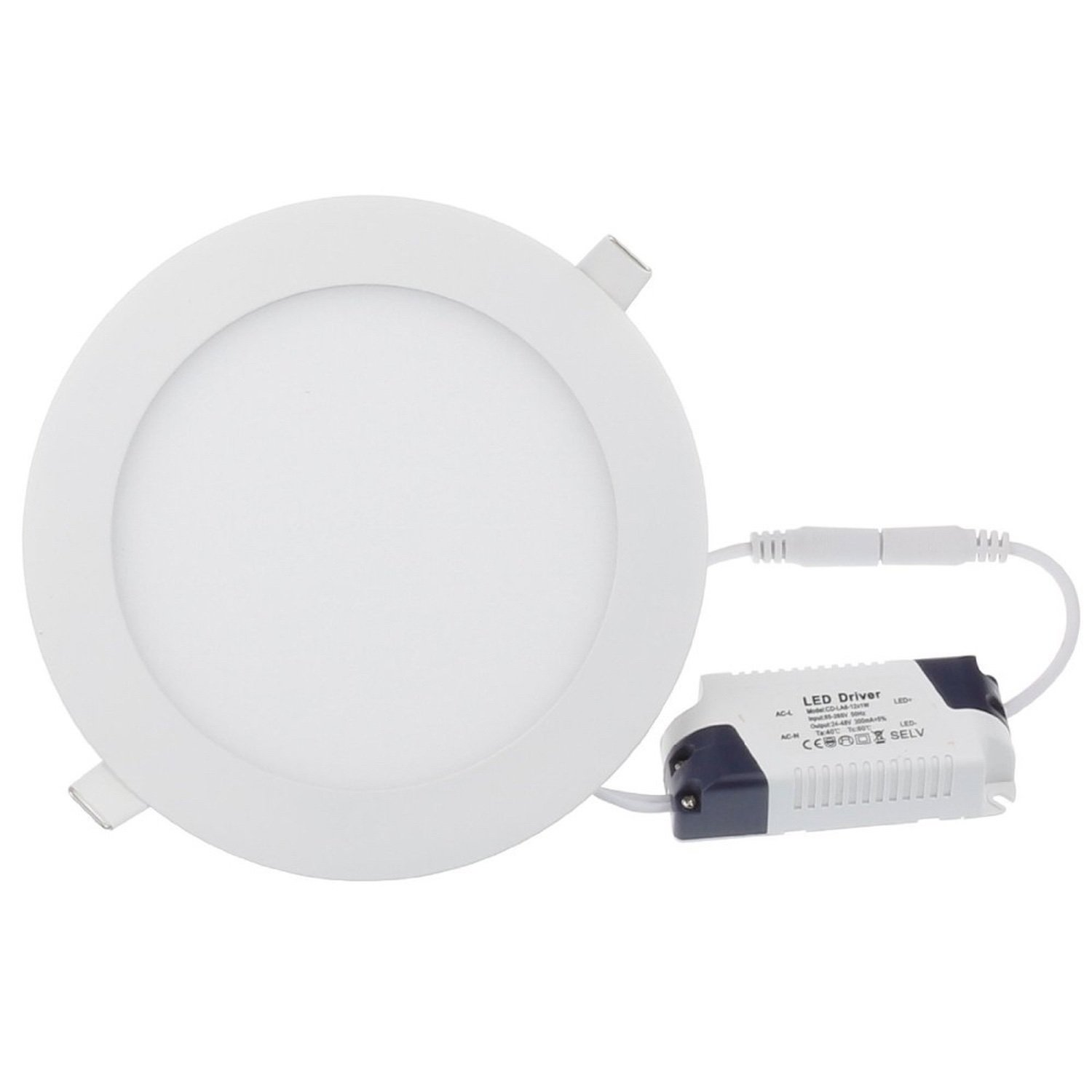 24W LED Panel Light round-Ceiling Flat Panel Downlight Lamp 6000k cold white luo db03 gu10 8w 600lm 6000k 16 smd 5630 led white light spotlight 85 265v