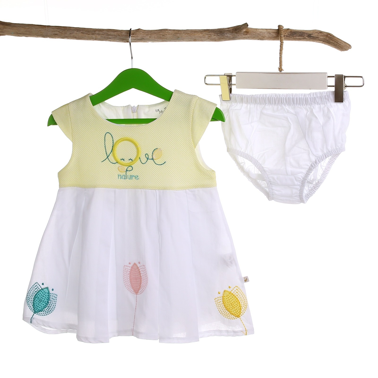 Ebebek For My Baby Love Girl Embroidered Dress With Panty