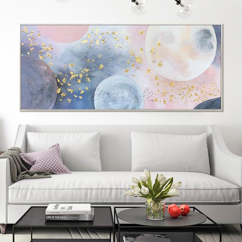Μοντέρνα αφηρημένη γεωμετρική ροζ - Διακόσμηση σπιτιού - Φωτογραφία 1