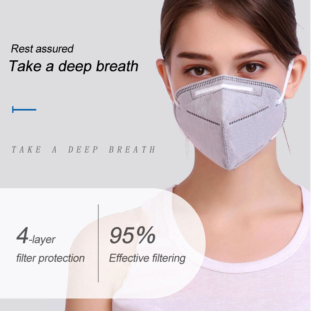 1PC Disposable kn95 Face Mouth Mask For Adults Anti-Dust Anti Virus Bacteria Black Face Mouth Mask Dropship TSLM1 1