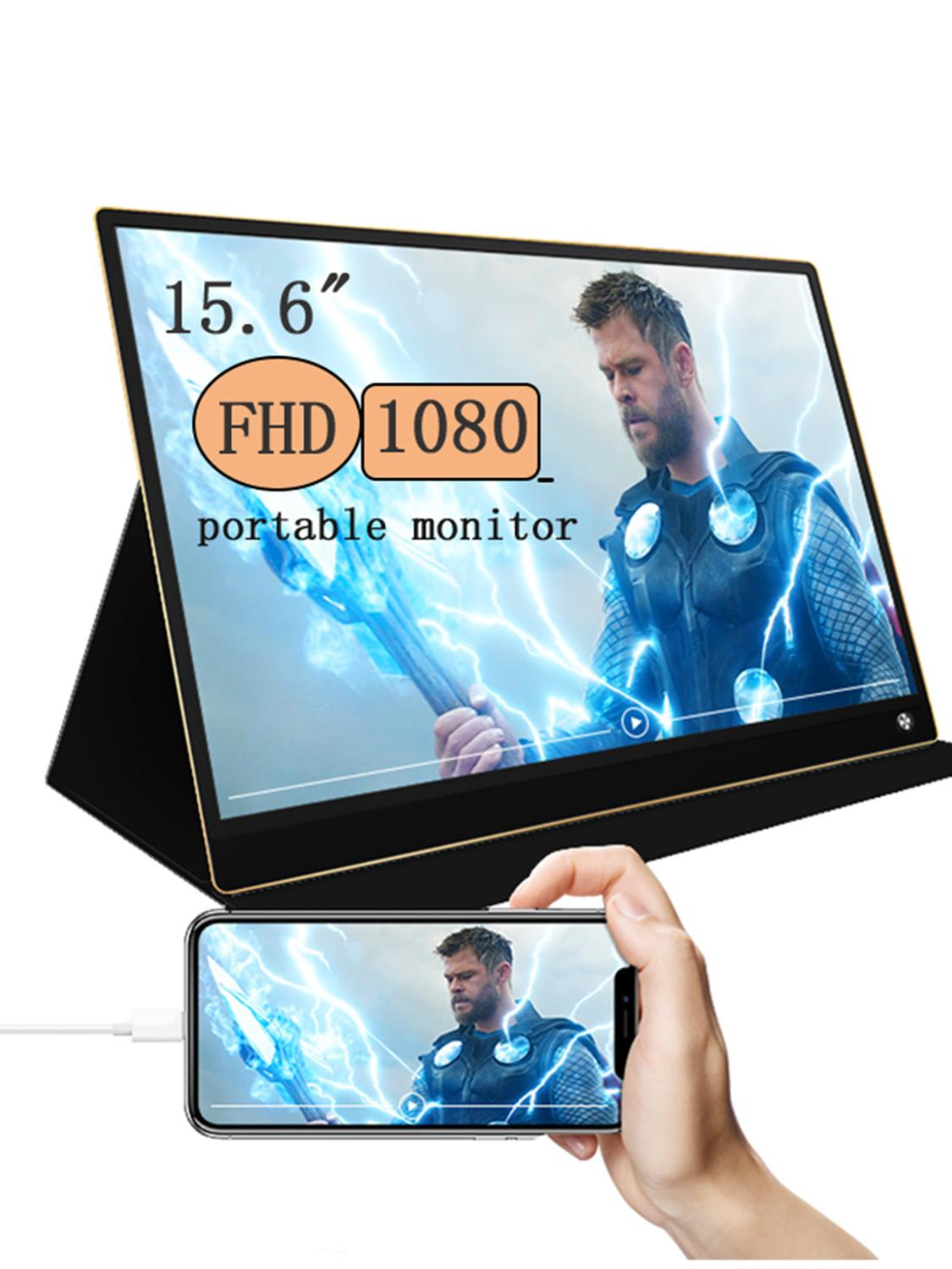 Portable Gaming monitor IPS Touch screen built in battery Gaming Display for Huawei &laptops xboxswitch ps4 with typeC HDMI image