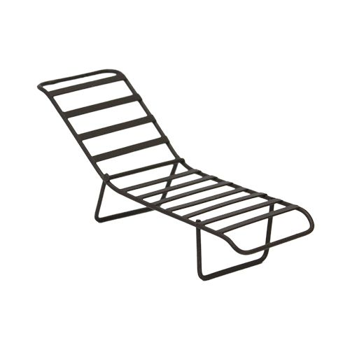 Kb3765 Metal Chaise Longue, Cinnamon. 11*3,5*2*5 Cm Aster
